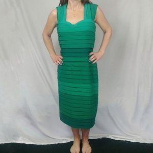 Tadashi Shoji Large Green Ombre Midi Dress